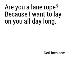Sports Pick Up Lines - Part 2