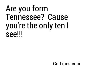 Are you form Tennessee?