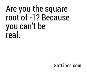 Math Pick Up Lines