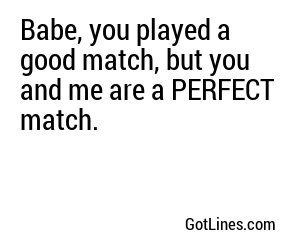 Tennis Pick Up Lines