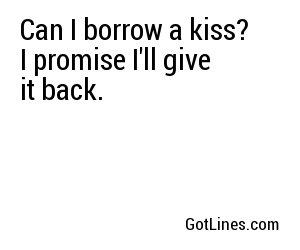 Pick Up Lines To Get A Kiss