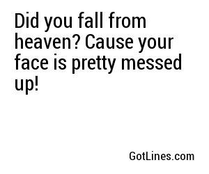 heaven pick up lines