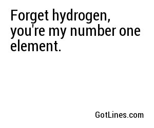 Chemistry Pick Up Lines