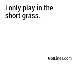 Golf Pick Up Lines