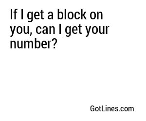 Sports Pick Up Lines - Part 8