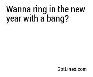 Wanna ring in the new year with a bang?