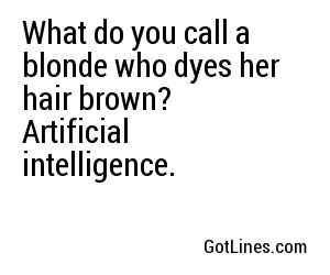 what do you call a blonde