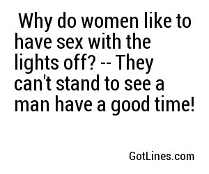 Where do women like to have sex