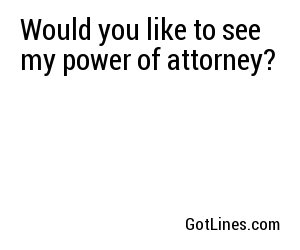 Lawyer Pick Up Lines