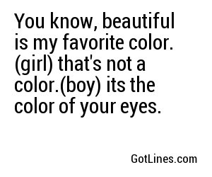 Pick Up Lines For A Beautiful Girl
